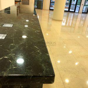1 Marble countertop & limestone floor